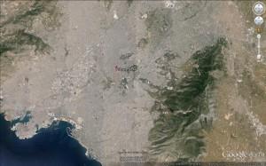 Athény - letecký snímek