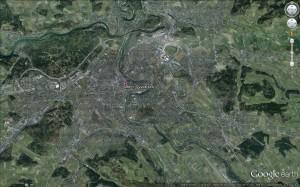 bern satelitní snímek