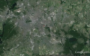 berlín letecký snímek