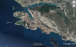Dubrovník - satelitní snímek