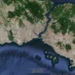 Istanbul - satelitní snímek
